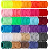 Isbasa 300pcs Baby Hair Ties, Elastic Hair Bands Soft Scrunchies for Toddlers Infants, Small Rubber Bands for Kids Baby…