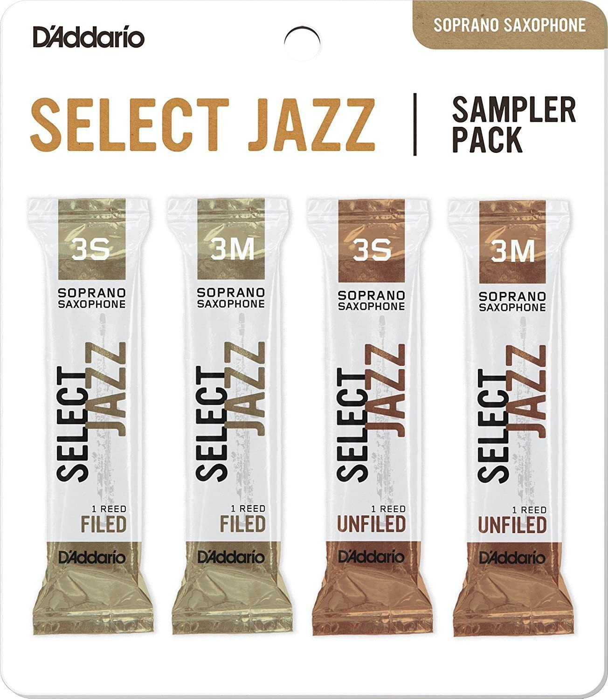 3S//3M DSJ-K3S D/'Addario Woodwinds DAddario Select Jazz Tenor Saxophone Reed Sampler Packs