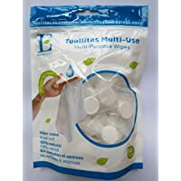 Emil Toallitas 100% Natural Compressed Multi-Purpose Towels/Wipes, Each Pill Individually