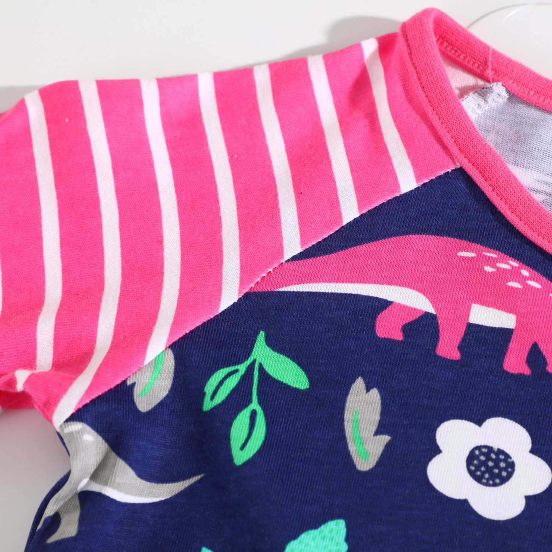 Toddler Baby Girl Soft T-Shirt Tops Crew Neck Cute Cartoon Sweatershirt