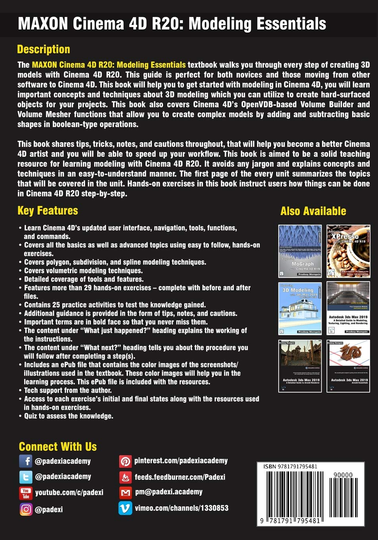 Buy Maxon Cinema 4D R20: Modeling Essentials Book Online at