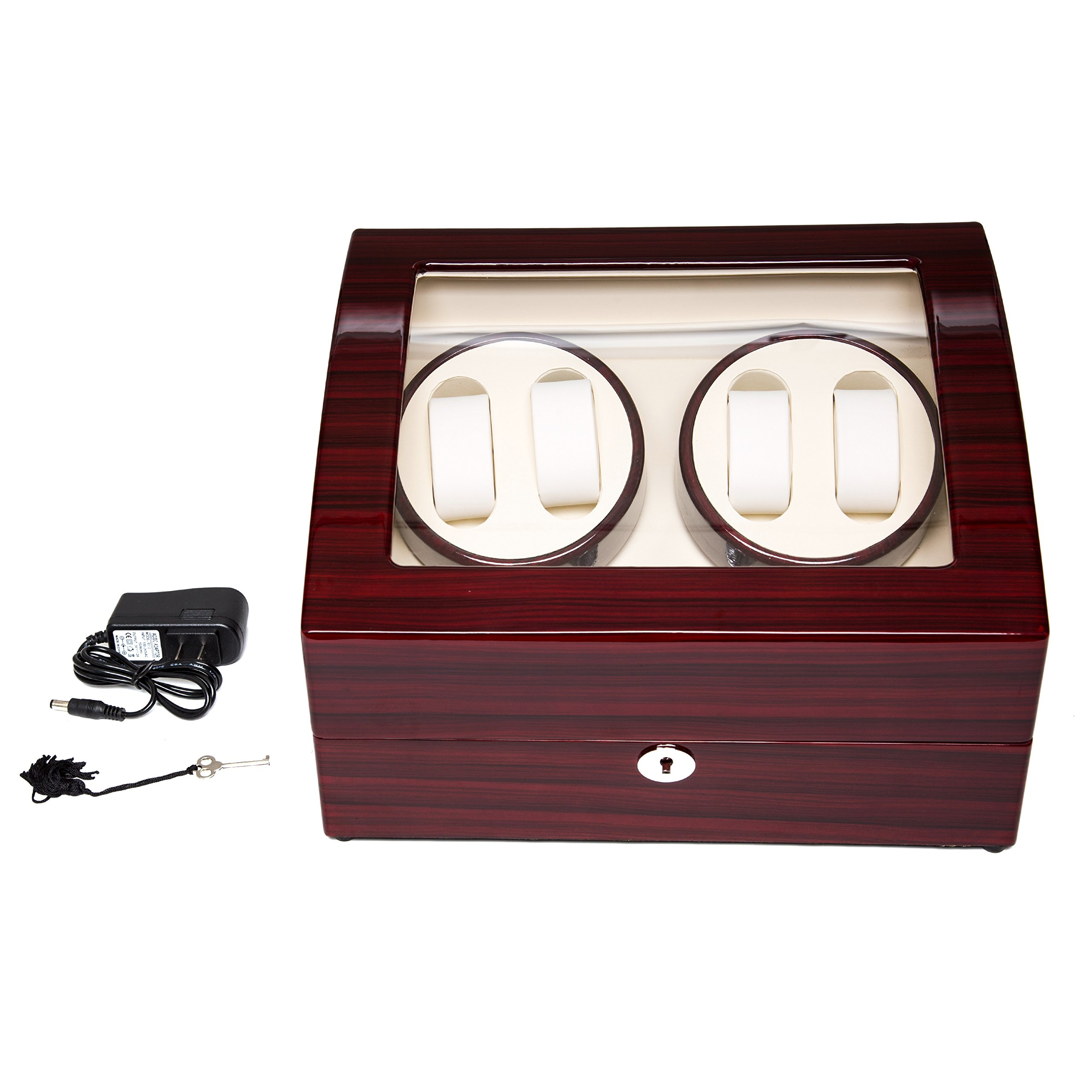 Wood 4+6 Watch Winder Mens Watches Box Storage Display Automatic Rotation Jewelry Case Organizer by Gregarder (Image #2)