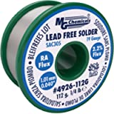 MG Chemicals SAC305, 96.3% Tin, 0.7% Copper, 3% Silver, Lead Free Solder, RA Flux, 1.01mm, 0.04' Dia.