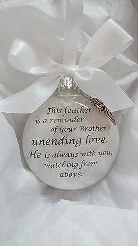 amazon com memorial christmas ornament brother s unending love w