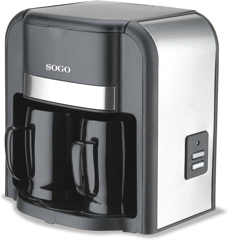Sogo SS-022 Cafetera goteo 2 tazas, 500 W, 0.3 litros, Plástico ...