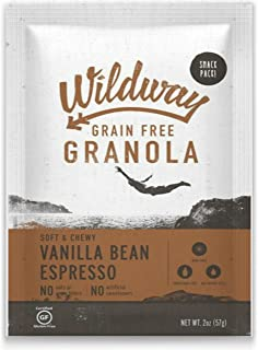 product image for Wildway Vegan Granola | Vanilla Bean Espresso | Certified Gluten Free Granola Snack Packs, Grain Free, Paleo, Non GMO, No Artificial Sweetener | 4 Pack