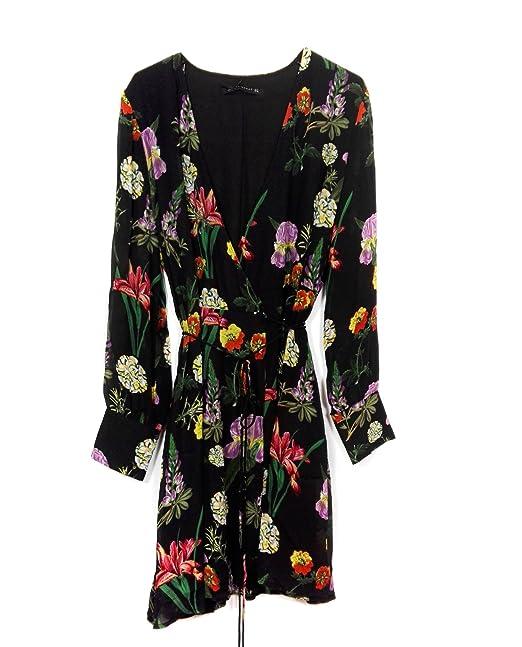 Zara - Vestido - para mujer negro negro Large