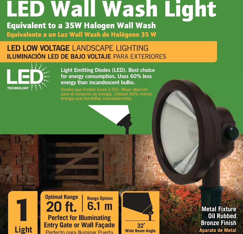 Amazon.com  Malibu LED Low Voltage Wall Wash Light Energy Efficient 13 Watts Landscape Lighting Security Light Spotlight for Outdoor Garden Hotel Yard ...  sc 1 st  Amazon.com & Amazon.com : Malibu LED Low Voltage Wall Wash Light Energy ...