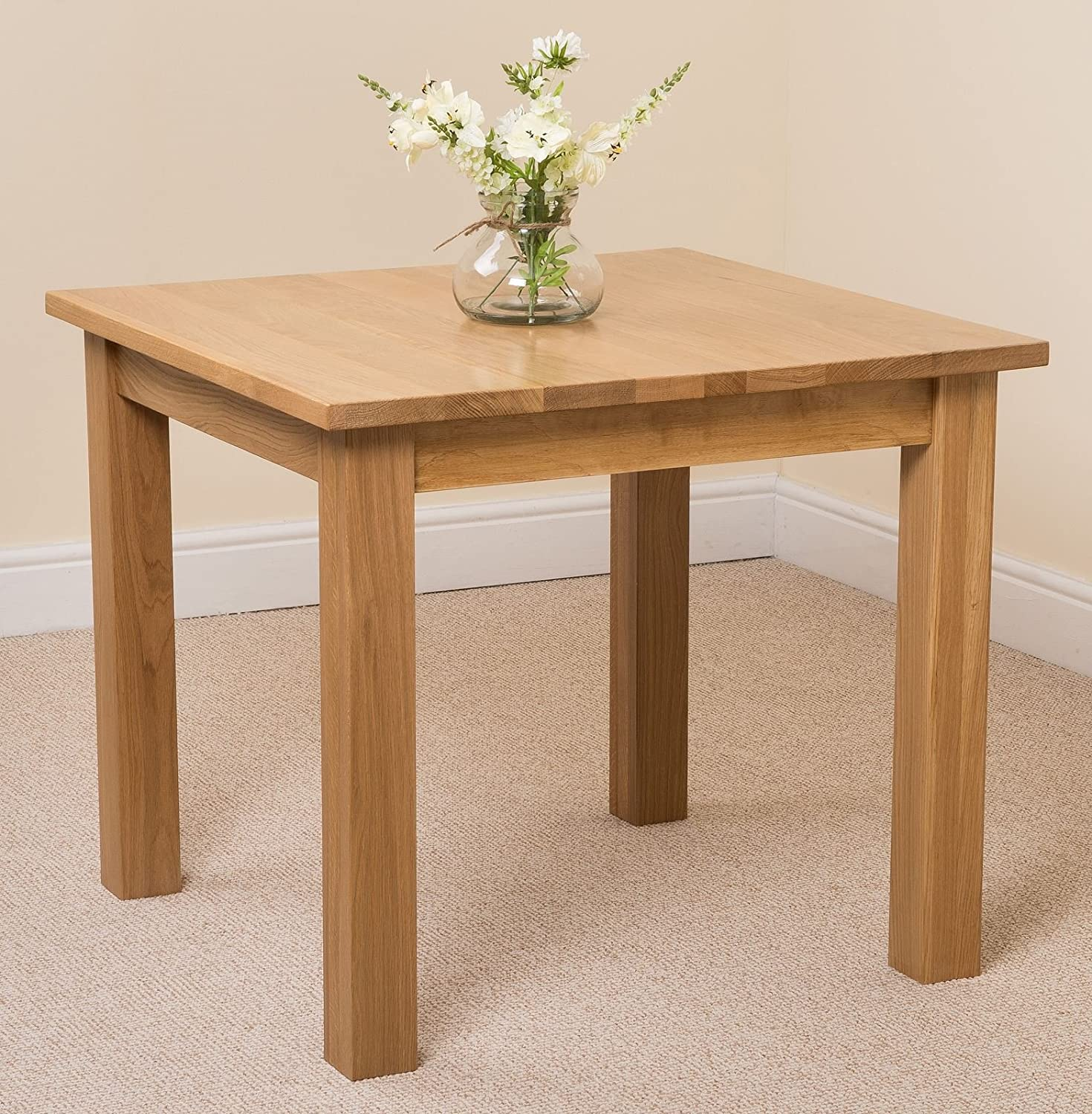 Oslo Solid Oak Square (90cm x 90cm) Dining Room Table: Amazon.co ...