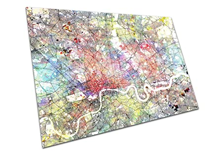 Map Of North London Uk.Eaposter North London England Street Map Artwork Print City Town