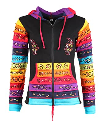 3a250e9cb7135 The Hippy Clothing Co.. - Kids Rainbow Ribbed & Hand Painted Hoodie