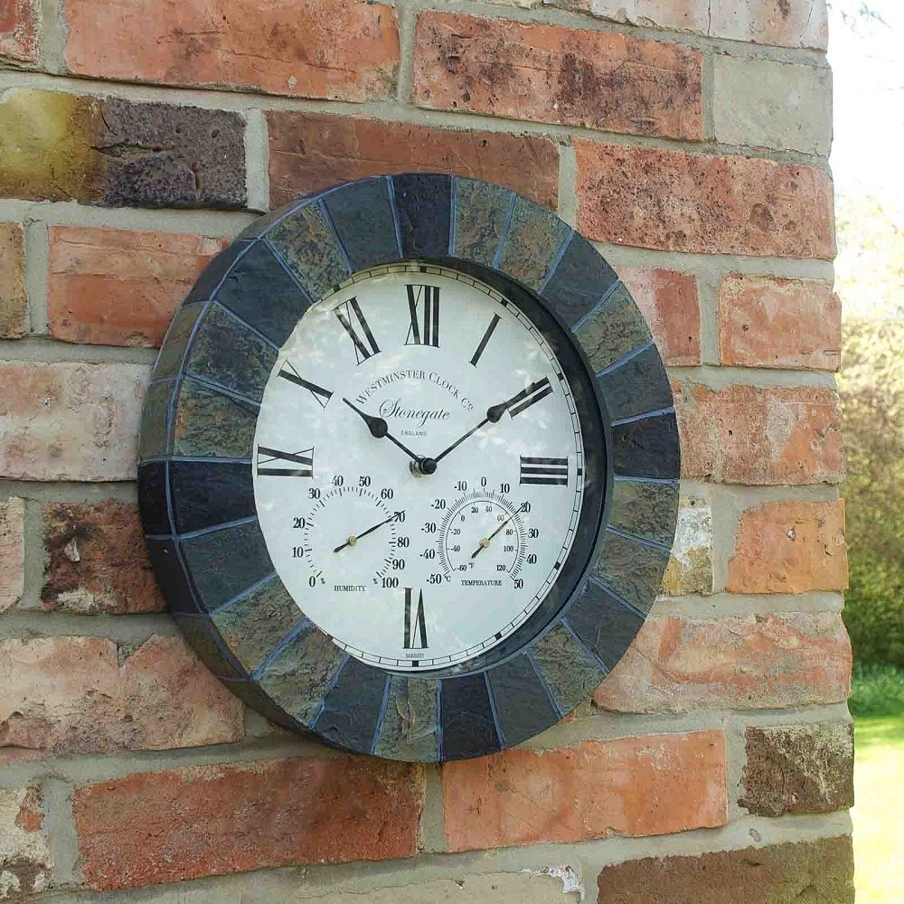 Outside In Designs 5065031 - Clock + Thermometer stongate: Amazon.co ...