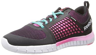 Reebok Women's ZQuick 2.0 Running Shoe,BlackSolar PinkWhiteTimeless Teal