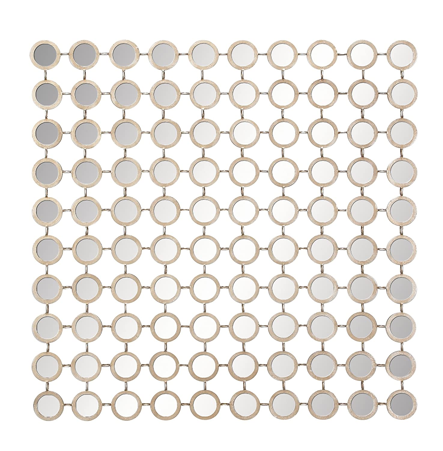 """Amazon Deco 79 Metal Mirror Wall Panel 39 by 39"""" Home & Kitchen"""