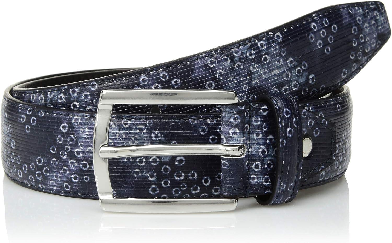 Bugatchi Mens Stylish Printed Leather Belt