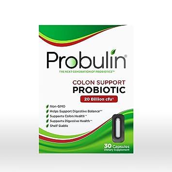 Amazon Com Probulin Colon Support Probiotic 30 Capsules Health