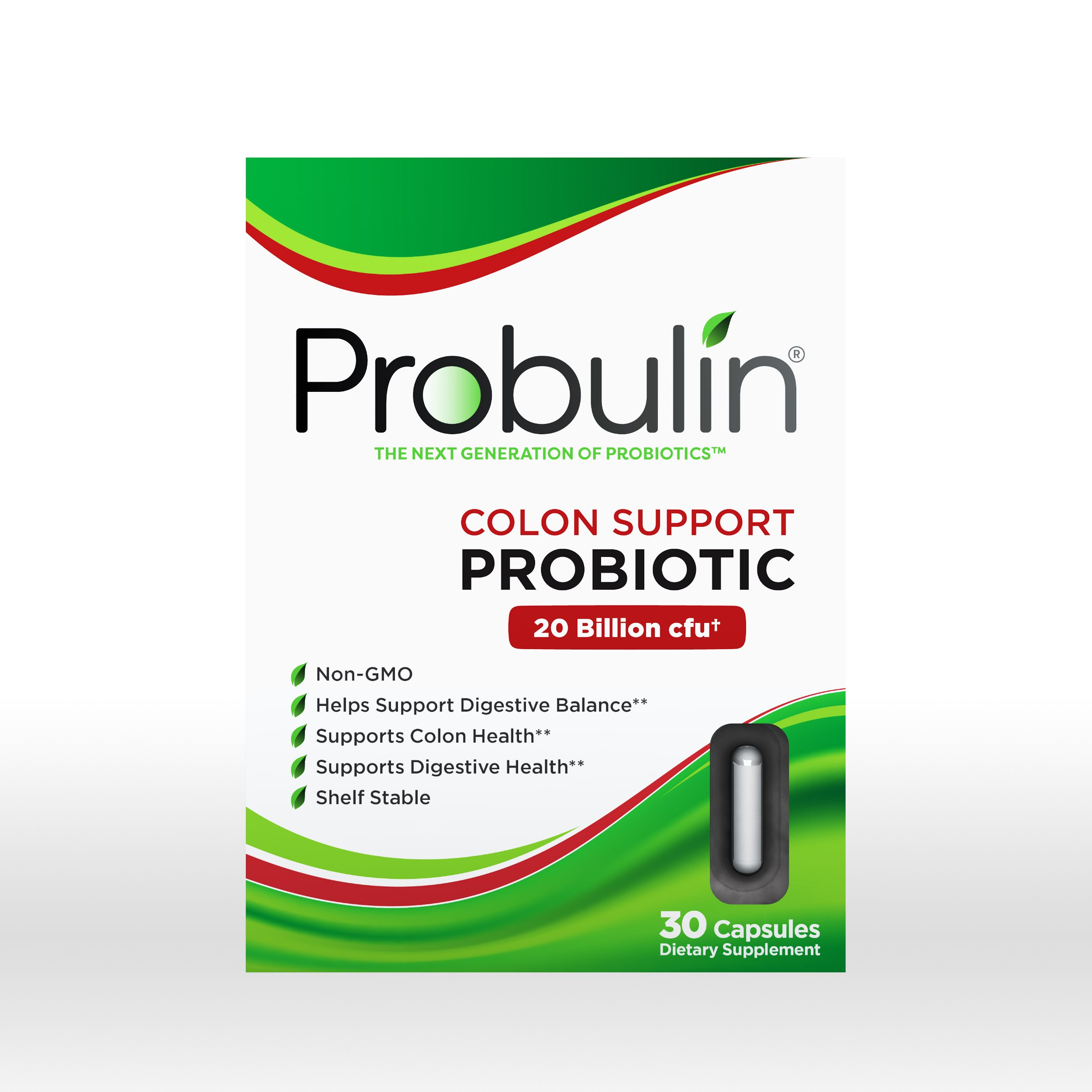 Probulin Colon Support Probiotic, 30 Capsules