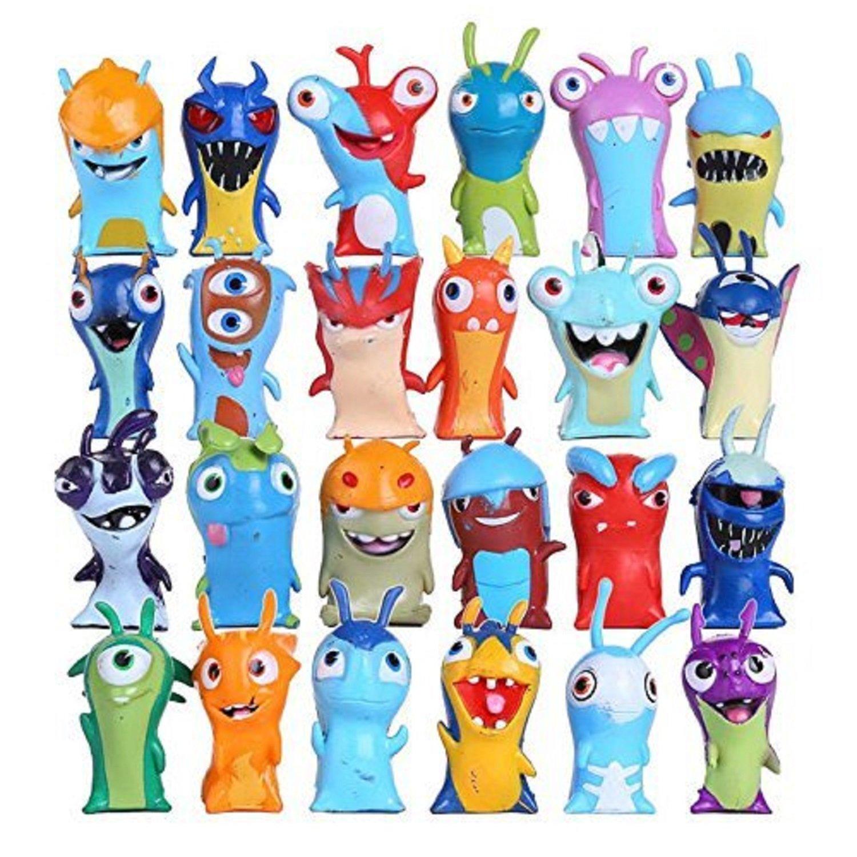 Max Fun 24 pcs/set Anime Cartoon Mini Slugterra PVC Action Figures, 4.5-5cm Kids Toys Dolls Cake toppers Party Supplies