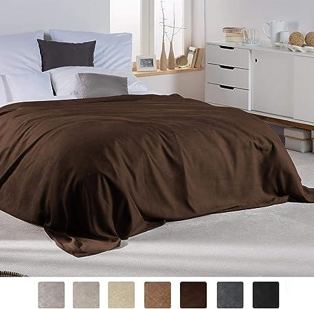 Large 100/% coton Plaid Tissé Canapé Lit Couverture Couvre-Lit Canapé Couverture Marron