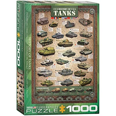 EuroGraphics History of Tanks Puzzle (1000-Piece): Toys & Games
