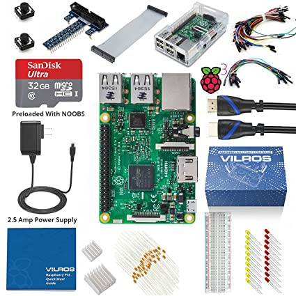 Vilros Raspberry Pi 3 Ultimate Starter Kit--Clear Case Edition at