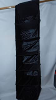 product image for Sweater Rack with six Shelves Hold 12 Sweaters, Hats or Bags Made in USA (Black)