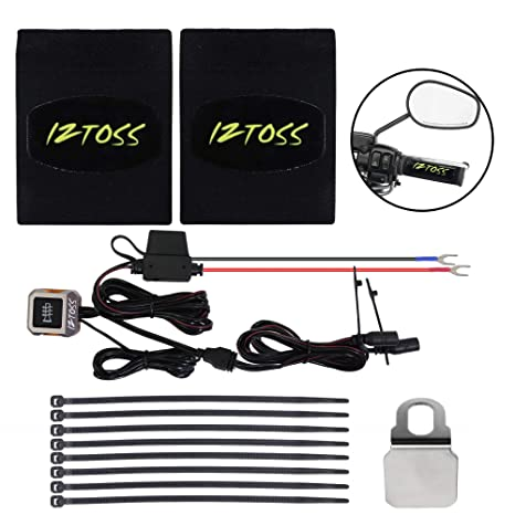Warmer Sleeves with switch to control 22-30mm Motorcycle ATV Scooter USB Heated Grips Handlebar 7//8-1 1//5