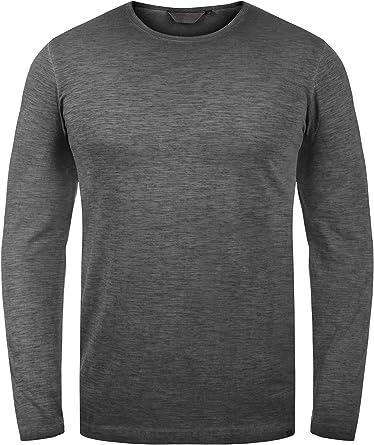 Solid Conner Camiseta Básica De Manga Larga Longsleeve para Hombre De 100% algodón: Amazon.es: Ropa y accesorios
