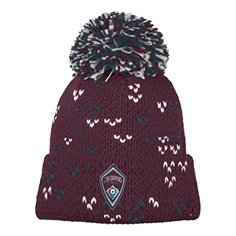 Amazon.com   MLS Colorado Rapids Women s Fan Wear Cuffed Pom Knit ... dffa787054