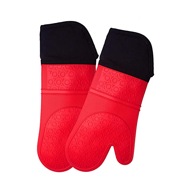 Extra Long Professional Silicone Oven Mitt - 1...