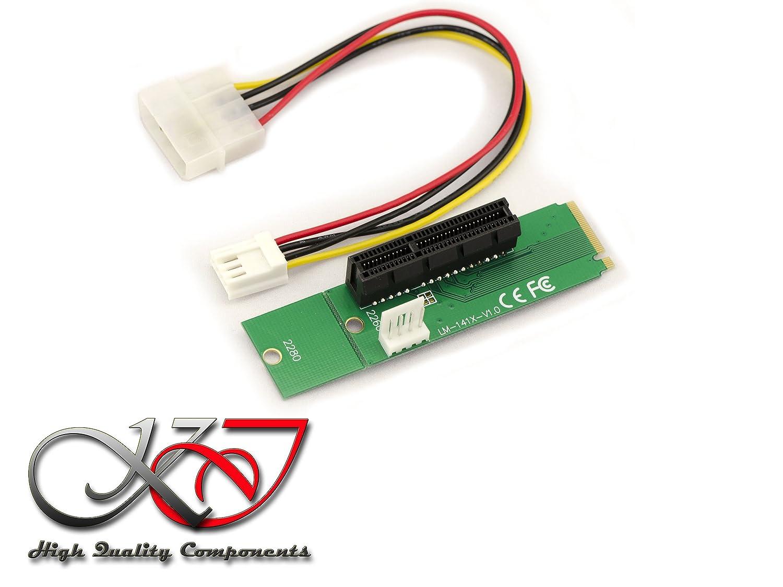 Kalea-Informatique–Scheda M2PCIe (M.2NGFF) verso un porta PCIe 4x–Per Montare una scheda PCIe su un porta M2.
