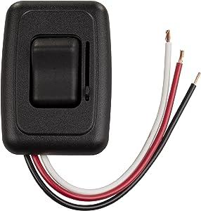 JR Products 05-12315 LED Side Slide Dimmer Switch-Black