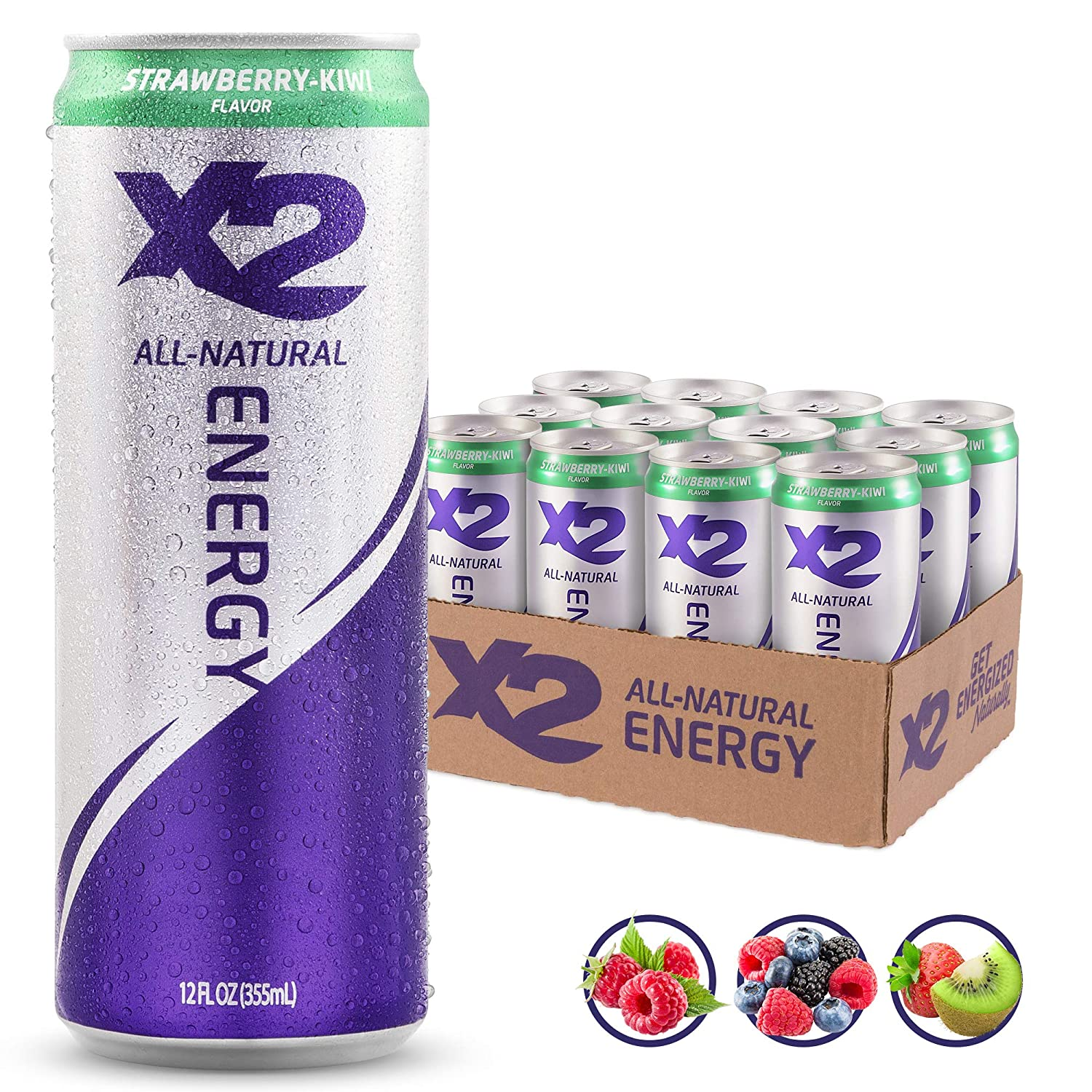 X2 All Natural Energy Drink 12...