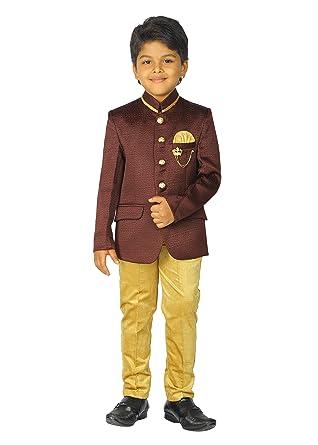 c064875825c ahhaaaa Kids Ethnic Indian Jodhpuri 2 PC Party Wear Suit Set for Boys (9-