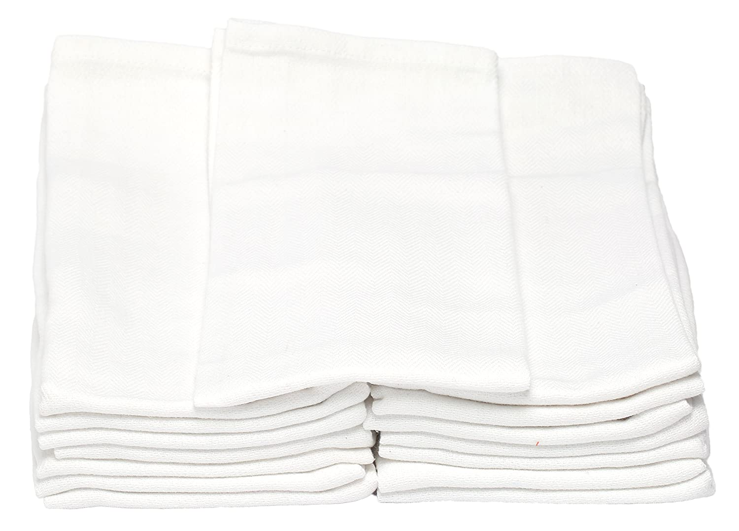 100/% Natural Cotton Melange 180 PACK Classic Kitchen Towels 14 x 25 Commercial Restaurant Grade Absorbent and Lint-Free Machine Washable Solid White Dish Basics 710228914842 Herringbone Weave Dish Cloth