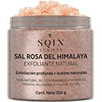 SQIN LX Exfoliante de Sal Rosa del Himalaya, Exfoliación Profunda, Remueve Toxinas, Nutre y Restaura la Piel, Balancea…