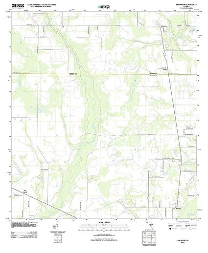 Topographical Map Of Florida.Amazon Com Florida Maps 2012 Limestone Fl Usgs Historical