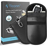 Deals on 2 Pack TICONN Faraday Cage Protector Key Fob