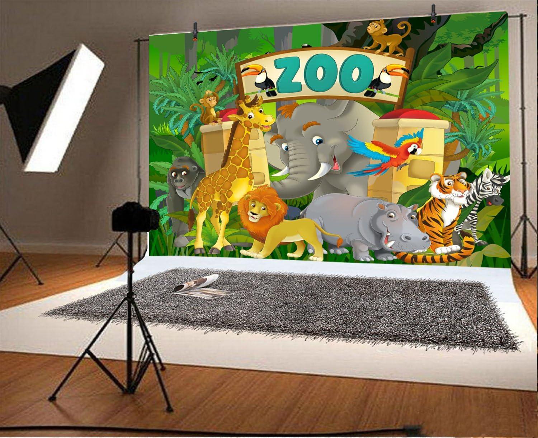 7x10 FT Safari Vinyl Photography Background Backdrops,Tiger Sitting on Wood Clear Blue Sky Wildlife Morning Stripes Predator Print Background for Photo Backdrop Studio Props Photo Backdrop Wall
