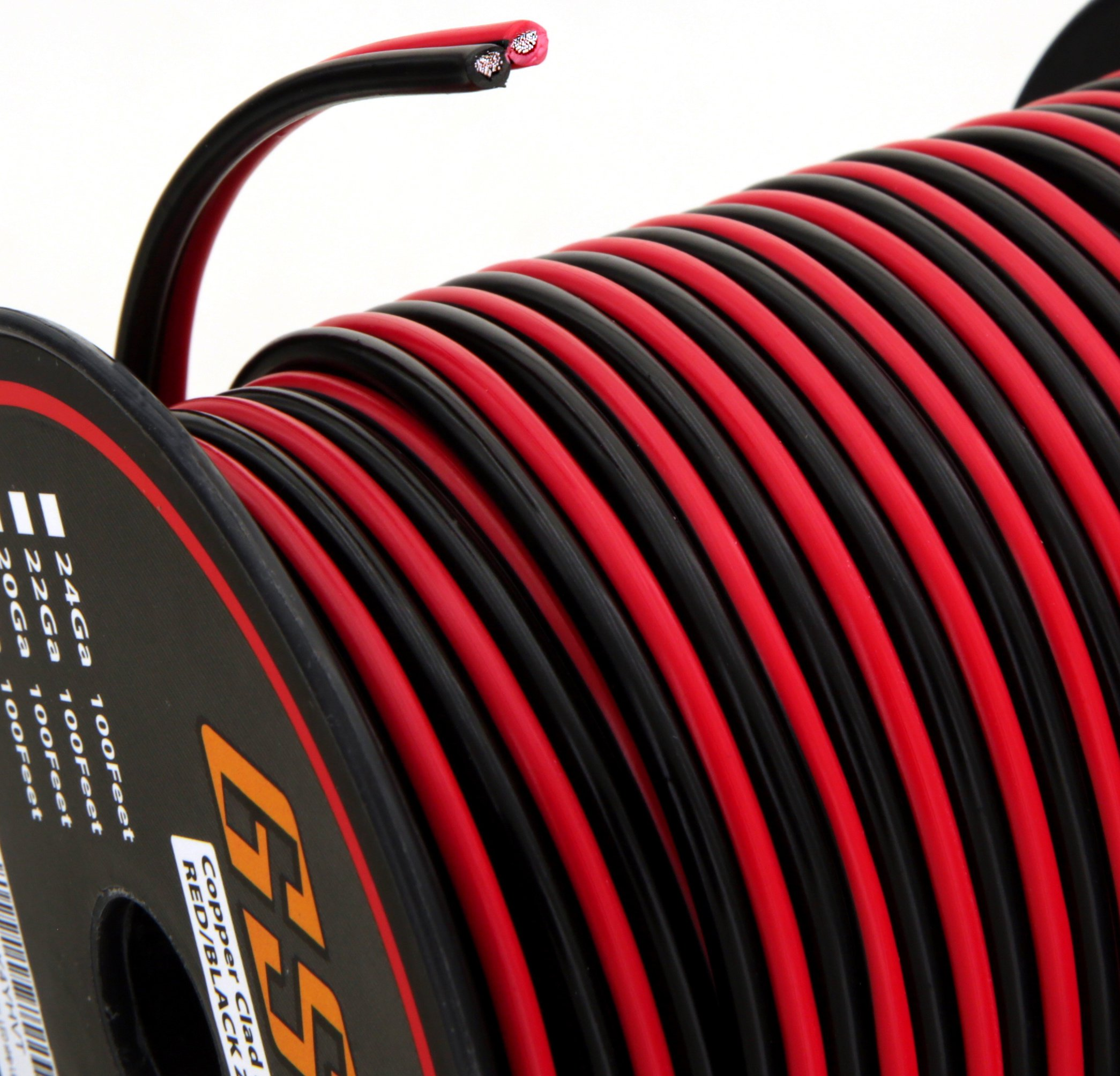 Gs Power 12 Ga Gauge 100 Feet Cca Copper Clad Aluminum Red Black 2 Wiring Conductor Bonded Zip Cord Speaker Cable For Car Audio Home Theater Led Light