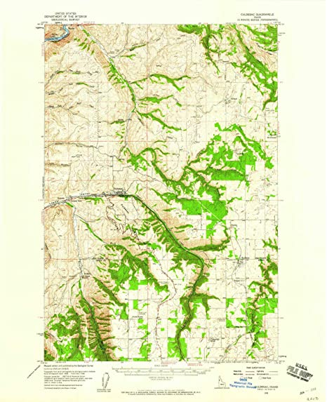 Amazon.com: YellowMaps Culdesac ID topo map, 1:62500 Scale ...