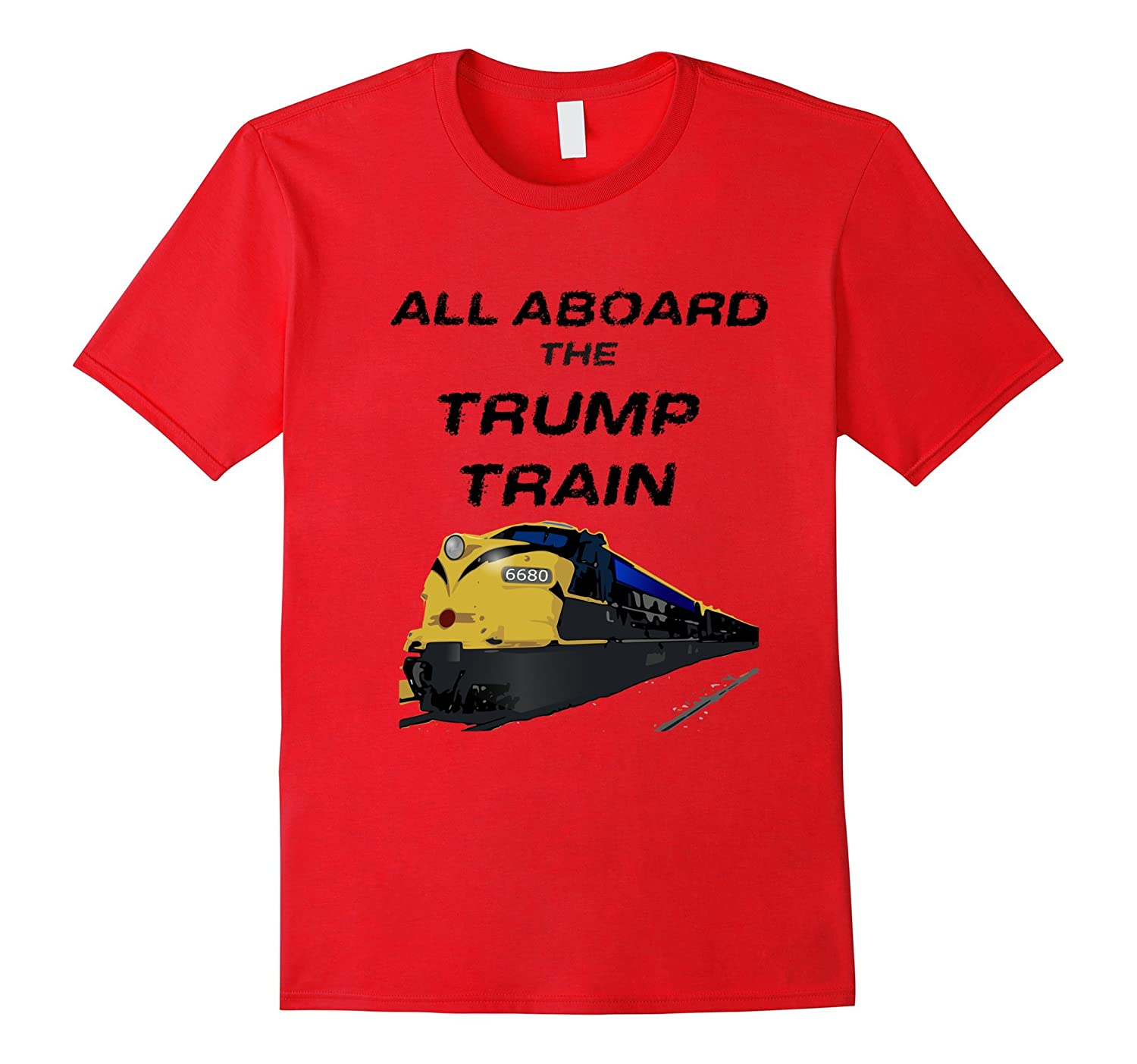 All Aboard The Trump Train T-Shirt-CD
