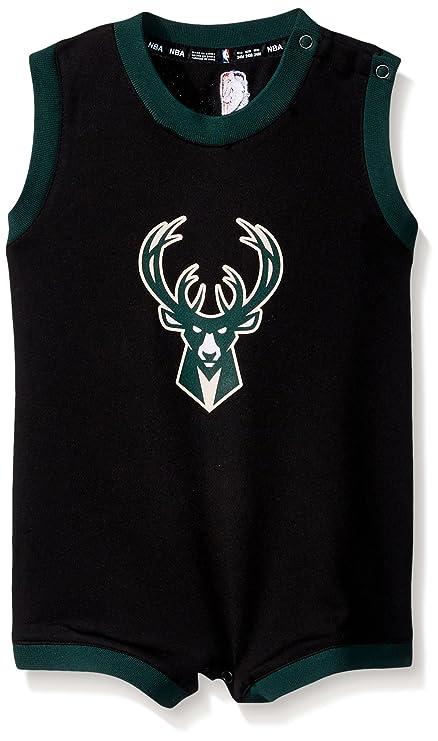 c905afa3ca4 NBA Infant Replica Wordmark Alternate Romper Milwaukee Bucks-Black-12 Months