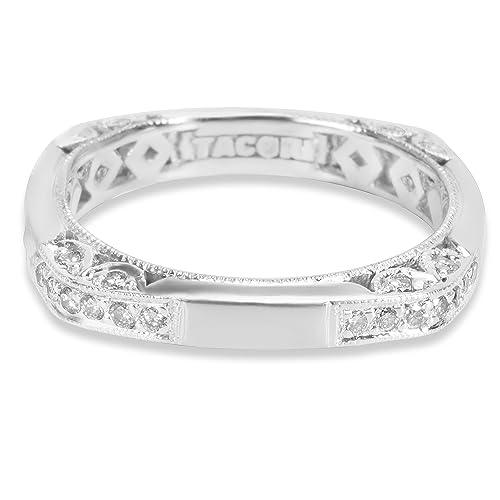 tacori Diamond/de anillos de boda banda en platino HT 2263 (0,35