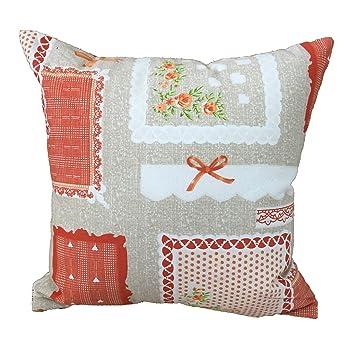 Kissen Wohnzimmer Shabby Rose Orange 60 X Mbel Haus Sofa Bett Aus Baumwolle