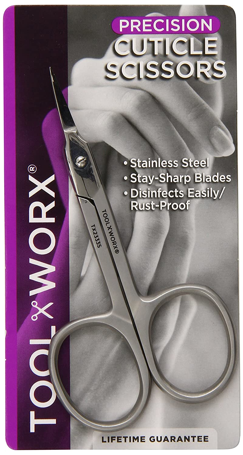 Toolworx Precision Cuticle Scissors 1 Count TX23335