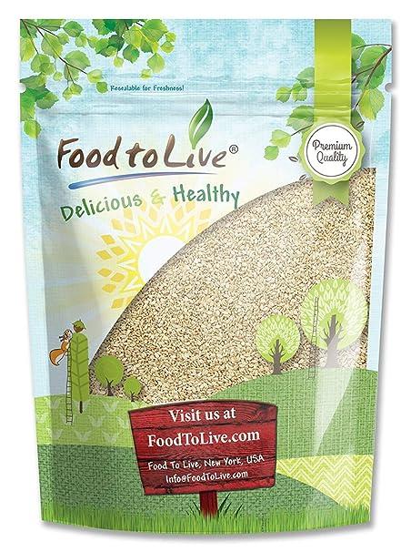 Alimentos para semillas de sésamo vivas (cascado): Amazon ...