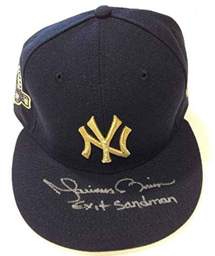 80d52995dd6 Mariano Rivera Autographed Signed Yankees Gold 2013 Retirement Hat Exit  Sandman Steiner Auto