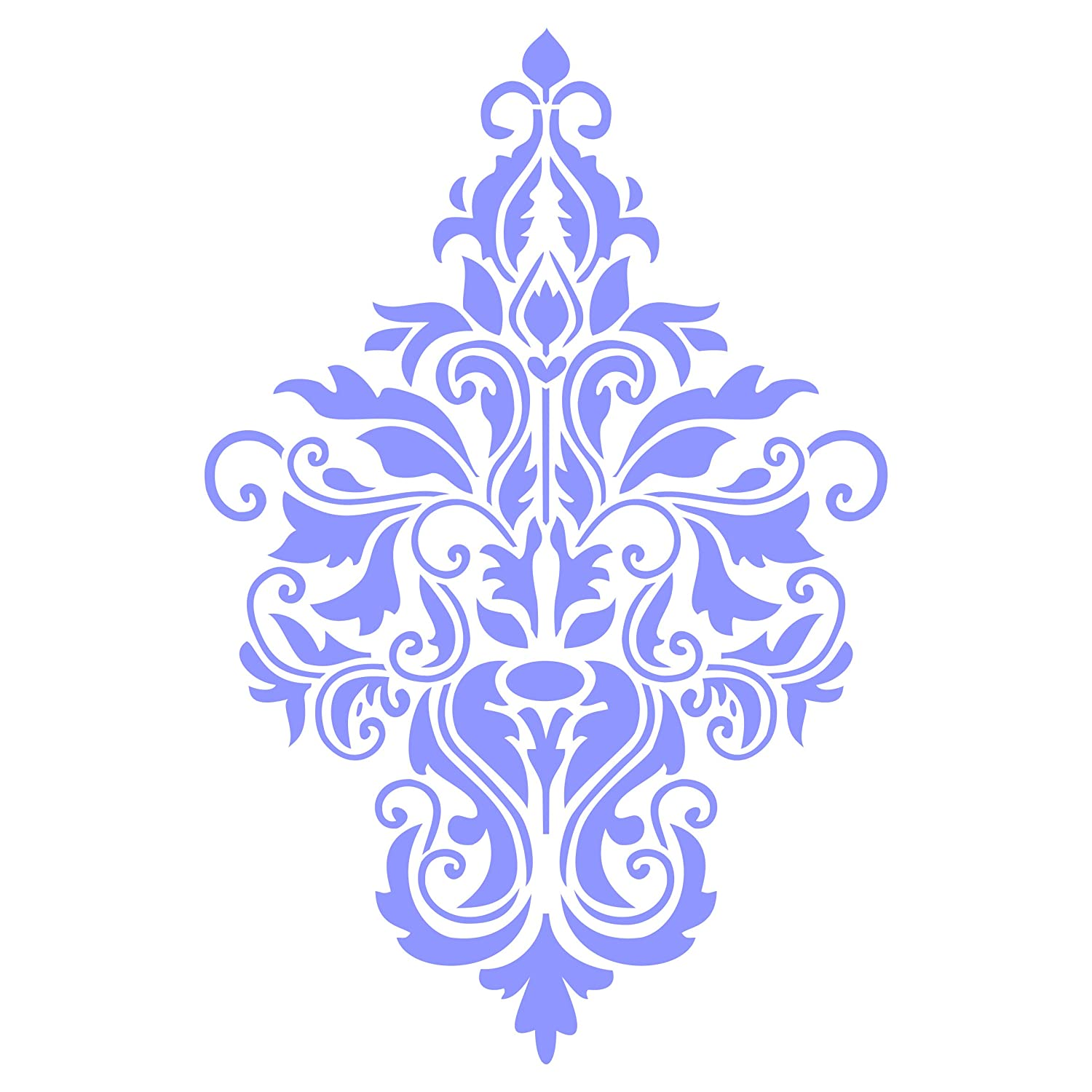 - Reusable Large Floral Allover Pattern Wall Stencil Template 15 x 23cm Damask Stencil Use On Paper Projects Scrapbook Journal Walls Floors Fabric Furniture Glass Wood Etc. M