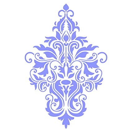 Amazon com: Damask Stencil - 4 5 x 6 5 inch (S) - Reusable Large